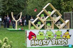 Аттракцион Angry Birds на корпоративе туристического оператора TUI в горнолыжном комплексе Лата-Трек в Крылатском