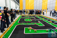 Трасса с радиоуправляемыми автомоделями серии Mini-Z в аренду на открытие шинного завода Continental в Калуге
