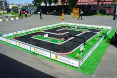 Трасса с гонками на радиоуправляемых автомоделях Mini-Z Ferrari