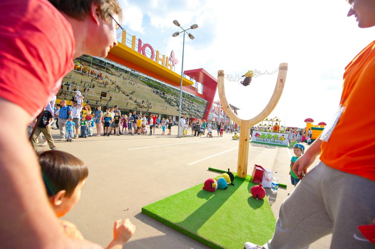 Аттракцион Angry Birds в аренду на День семьи (Family Day) в ТРЦ Июнь, Мытищи