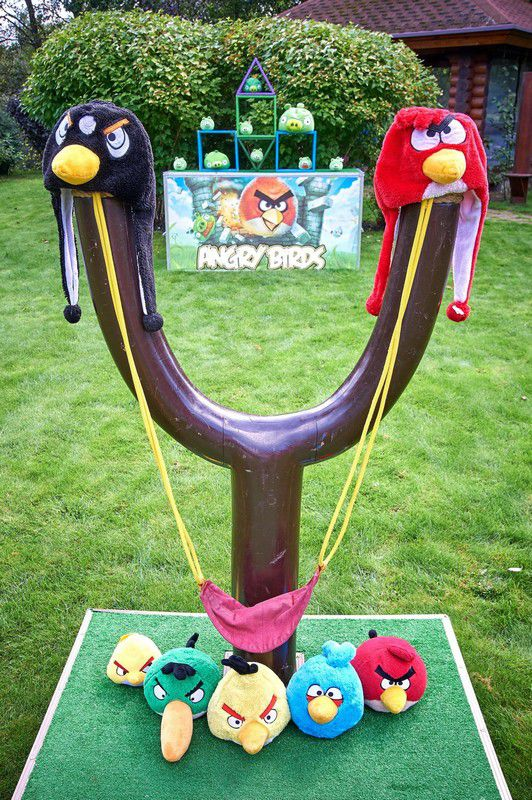 Аренда рогатки Angry Birds