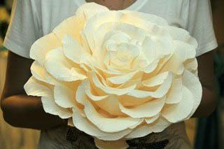Бумажные объемные цветы