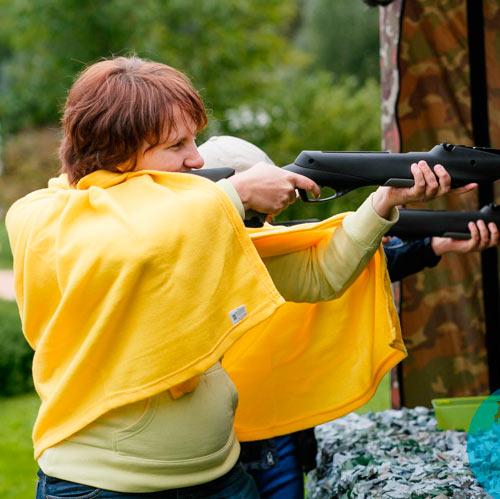 Аренда тира с пневматическими винтовками или пистолетами