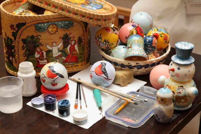 Роспись ёлочного шара, игрушки